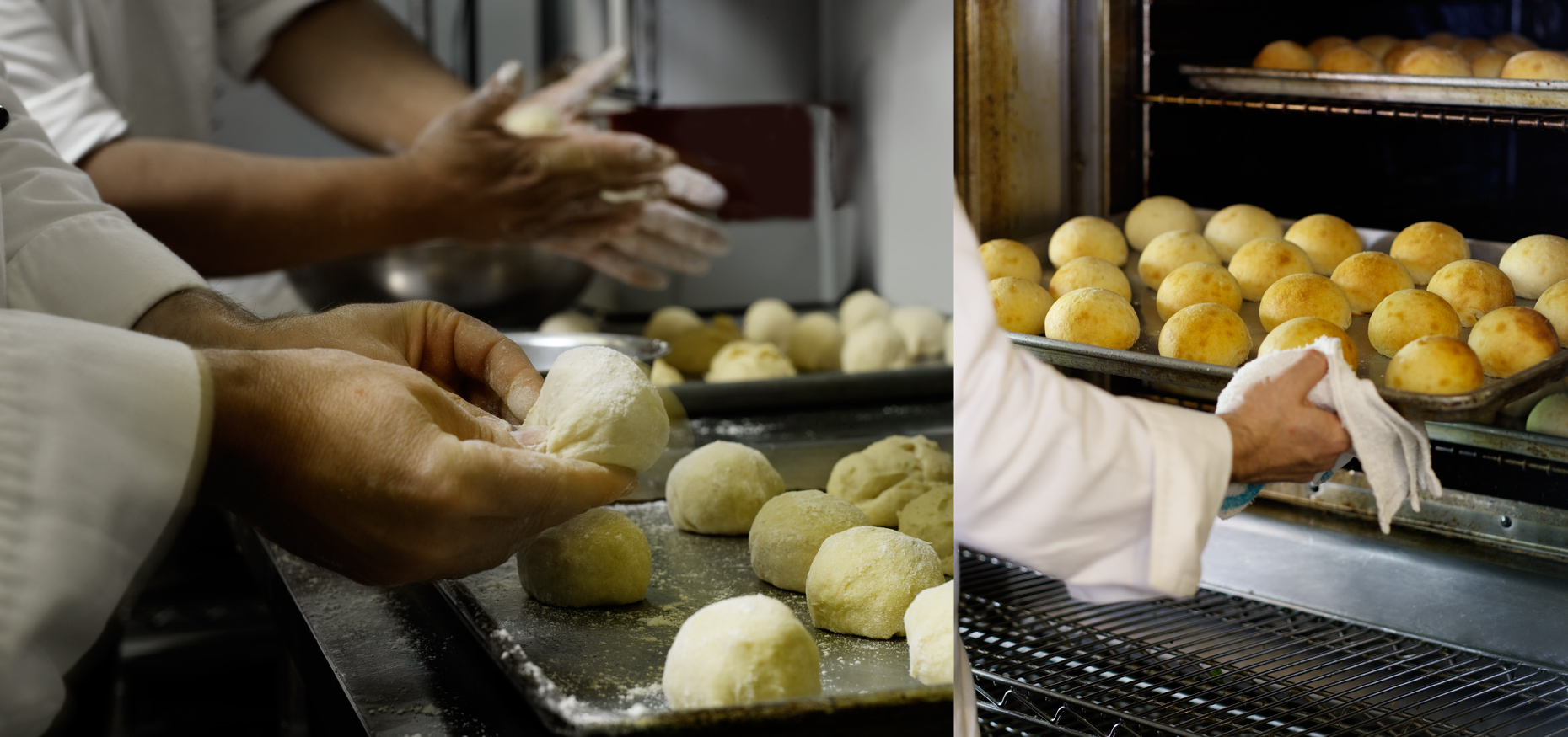 Making bread rolls