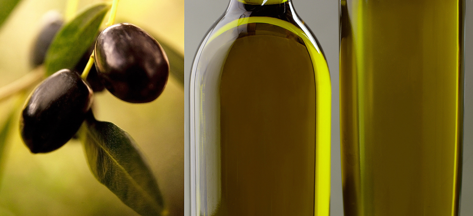 Extra virgin olive oil- Black olives- Best food photography