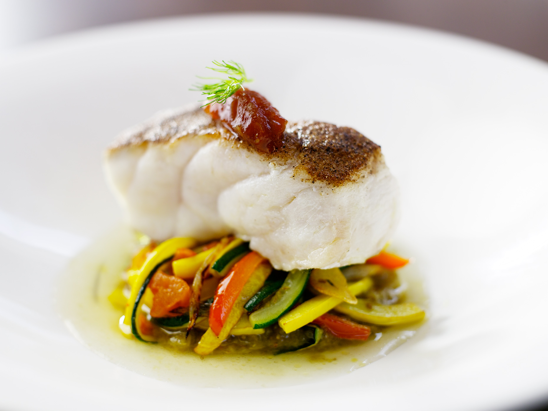 Sea bass- Gourmet food- Gourmet seafood- Henrique du Tiel